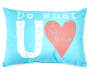 Do What you love velvet plush throw pillow SIlo Image