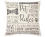 Dog Rules Throw Pillow Silo Front