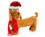 Dog Tinsel Tabletop Decor Front View Silo Image