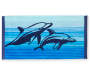 Dolphins Double Jacquard Beach Towel Clip Lifestyle