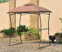 Domed Top Grill Gazebo Replacemnt Canopy 7 Feet by 5 Feet Outdoor Setting Lifestyle Image