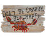 Don't Be Crabby Outdoor Doormat 18 inch x 30 inch silo top view