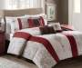 Donavan Red Chocolate and Ivory 7-Piece Queen Comforter Set Lifestyle Image