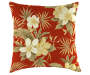 EMILY RED FLORAL/STRIPE TOSS PILLOW