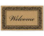 Elegant Welcome Coir Outdoor Doormat 18 Inches by 30 Inches Overhead View Silo Image