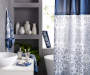 Elena Blue and White Medallion Bathroom Collection in Bathroom Environment Lifestyle Image