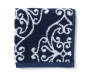 Elena Blue and White Medallion Wash Cloth Silo