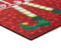 Elf Surveillance Rubber Outdoor Doormat  Silo Image Corner Close-Up