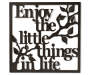 Enjoy the Little Things Metal Wall Decor Silo