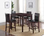 Espresso Barstool Pub Set Room View