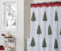 Evergreen Trees Shower Curtain and Hooks Set Bathroom Lifestyle Image