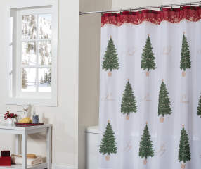 Traditions Collection Evergreen Trees Shower Curtain