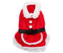 Extra Large Mrs Clause Pet Outfit Displayed Overhead Shot Silo Image