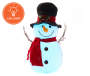 FLOCKED SNOWMAN TOP HAT
