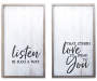 FM 2PK 24INCH WALL SIGN LISTEN IN SUCH A WAY
