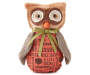 Fabric Owl with Green Bow and Text Silo Image