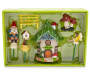 Fairy Garden Gnome and Mushroom 6 Piece Set silo front package view
