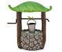 Fairy Garden Leaf Wishing Well silo front