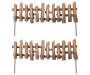 Fairy Garden Miniature Faux Wood Fence, 2-Pack