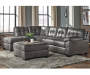 Fallston Slate Left Arm Facing Chaise Sectional, 1 of 2 Pieces