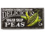Farm Fresh Sugar Snap Peas Wall Plaque Front View Silo Image