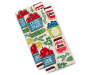 Farmer's Market Kitchen Towels 2 Pack Stacked and Fanned Overhead View Silo Image