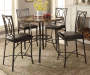 Faux Marble 5 Piece Pub Set Room View