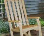 Faux Wood Rocking Chair lifestyle