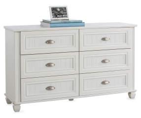 Federal White 6 Drawer Dresser Big Lots
