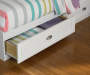 Federal White Twin Mates Storage Bed Detail Drawer Pull Room View