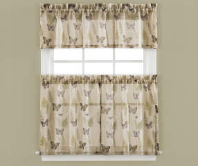 Living Colors Ferndale Butterfly Kitchen Tier Amp Valance 3