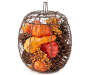 Filled Wire Pumpkin Basket Silo Image