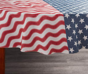 Flag Vinyl Round Tablecloth 60 Quot Big Lots