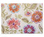 Floral Jacobean Fabric Placemat Overhead View Silo Image
