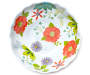 Floral Melamine Serving Bowl Overhead View Silo Image