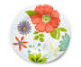 Floral Patterned Melamine Dinner Plate