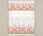 Flower Trail 3 Piece Tier and Valance Set On Window Room Environment Lifestyle Image