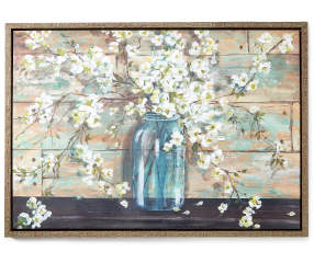 flowers  jar canvas  frame wall art    big