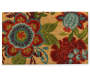Francesca Floral Coir Outdoor Doormat 18 Inches by 30 Inches Overhead View Silo Image
