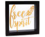 Free Spirit Black Square LED Box Plaque silo front