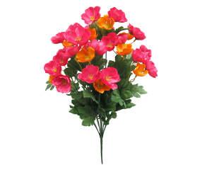 Fuchsia orange poppy artificial flower bouquet big lots mightylinksfo