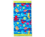 Fun Fish Beach Towel 30 Inches by 60 Inches Overhead View Silo Image