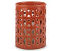 GB ORANGE CERAMIC CANDLE HOLDER