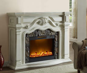 62 grand white electric fireplace big lots. Black Bedroom Furniture Sets. Home Design Ideas