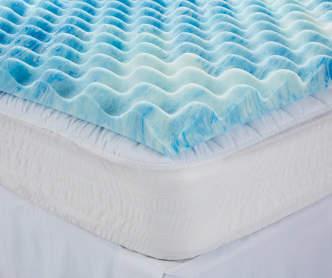 sertarest 4 gel memory foam queen mattress topper big lots. Black Bedroom Furniture Sets. Home Design Ideas
