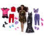 Glam African American Doll Set Out of Package with Accessories Silo Image