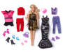 Glam Blonde Fashion Doll Set Out of Package with Accessories Silo Image
