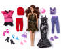Glam Brunette Fashion Doll Set Out of Package with Accessories Silo Image