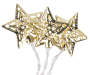 Gold LED Metal Star Battery Operated White Light Set 12 Count Out of Package Bundled Silo Image