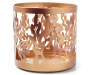 Gold Leaf Metal Candle Sleeve Front View Silo Image